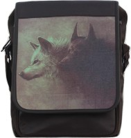View Weird Wolf 14 inch Laptop Messenger Bag(Brown)  Price Online