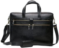 Leather Bags & More... 15 inch Laptop Messenger Bag(Black)