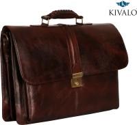 View Kivalo 18 inch Expandable Laptop Messenger Bag(Brown) Laptop Accessories Price Online(Kivalo)