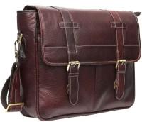View WildHorn 14 inch Laptop Messenger Bag(Brown) Laptop Accessories Price Online(WildHorn)