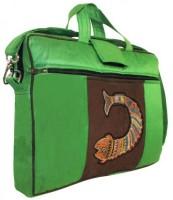 View Indha Craft 15 inch Laptop Messenger Bag(Green) Laptop Accessories Price Online(Indha Craft)