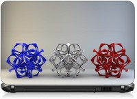 View VI Collections BLUE SILVER RED METAL HEXAGON IMPORTED Laptop Decal 15.6 Laptop Accessories Price Online(VI Collections)