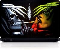View MGN Bob with Skeleton Smoking Vinyl Laptop Decal 15.6 Laptop Accessories Price Online(MGN)