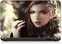VI Collections GIRL WITH GLOWING FLOWER PVC (Polyvinyl Chloride) Laptop Decal 15.6