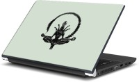 View Rangeele Inkers Alien Meditation Vinyl Laptop Decal 15.6 Laptop Accessories Price Online(Rangeele Inkers)