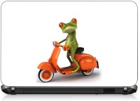 VI Collections MR FROG RIDING SCOOTER PVC (Polyvinyl Chloride) Laptop Decal 15.6