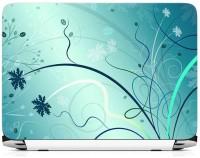View Print Gallery Floral Design Blue Vinyl Laptop Decal 15.6 Laptop Accessories Price Online(Print Gallery)