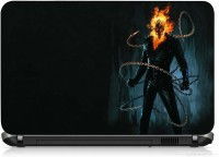 View VI Collections SKULL FIRE PRINTED VINYL Laptop Decal 15.5 Laptop Accessories Price Online(VI Collections)