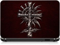 View VI Collections METAL CROSS AND SWORD PRINTED VINYL Laptop Decal 15.6 Laptop Accessories Price Online(VI Collections)