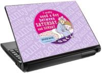 View Tashan Street Saturday and Sunday Laptop Skin Vinyl Laptop Decal 15.6 Laptop Accessories Price Online(Tashan Street)