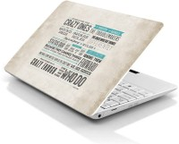 View Print Avenues Steve Jobs - Quote - Here's for the crazy ones Laptop Skin Decal (Print Avenues ID - PL0811) Vinyl Laptop Decal 15.6 Laptop Accessories Price Online(Print Avenues)