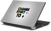 View Dadlace Change Every Minus To Plus Vinyl Laptop Decal 14.1 Laptop Accessories Price Online(Dadlace)