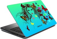 View meSleep Butterfly Girl for Nirmayi Vinyl Laptop Decal 15.6 Laptop Accessories Price Online(meSleep)
