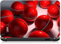 VI Collections RED BALLS PVC (Polyvinyl Chloride) Laptop Decal 15.6
