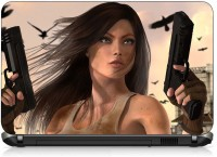 VI Collections ANIMATED GIRL IN GUN PVC (Polyvinyl Chloride) Laptop Decal 15.6