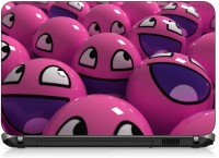 VI Collections PINK BALLS IN SMILING PVC (Polyvinyl Chloride) Laptop Decal 15.6