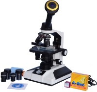 E.S.A.W Monocular Compound Microscope With Semi Plan Achro Objectives And 3.0mp Cmos Camera With Software And Usb Cable, 40x-1500x Magnification, Led Illumination With Kit(50 Blank Slides+Cover Slips+ Dust Cover)(White)