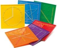 Math Buddy Labs Classic Geoboard(Yellow)