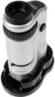 Zingalalaa Zoom Pocket Microscope with LED, 20-40x Magnification(Silver)