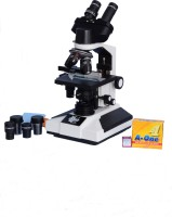 E.S.A.W Esaw Pathological Doctor Compound Student Binocular Microscope, 40x-1500x Mag., Led Illumination with Semi-Plan Achro Objectives and Kit(Containing 50 Blank Slides+Cover Slips+Cleaning Cloth+Dust Cover)(White)