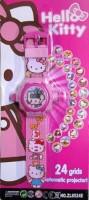 SahiBUY 24 Grid Automatic Projector Digital Toy Watch(Pink)