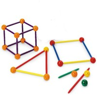 Math Buddy Labs Stic and Ball 3D Geometry Set(Multicolor)