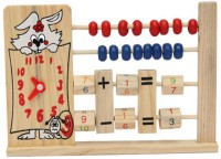 Kuhu Creations Wooden 2-Row Abacus Counting 8 Beads Per-row Maths Learning Educational Kids Toy(Multicolor)