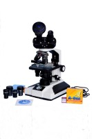 E.S.A.W Pathological Doctor Compound Student Binocular Microscope, 40x-1500x Mag., Led Illumination With Semi-Plan Achro Objectives, 5mp Cmos Camera And Kit(Containing 50 Blank Slides+Cover Slips+Cleaning Cloth+Dust Cover)(White)