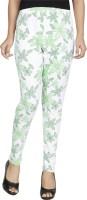 Anekaant Legging(Green, White, Floral Print)
