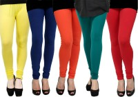 Kjaggs Legging(Yellow, Green, Orange, Blue, Red, Solid)
