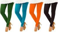 Charu Boutique Womens Multicolor Leggings(Pack of 4)