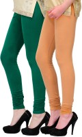 2 Day Legging(Green, Beige, Solid)