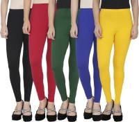 Anekaant Legging For Girls(Black Pack of 5)