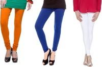 Madona Women's Multicolor Leggings(Pack of 3)