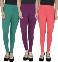 Anekaant Legging For Girls(Green Pack of 3)