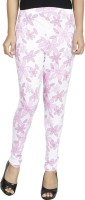 Anekaant Legging(Pink, White, Floral Print)