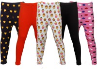 Little Stars Legging For Girls(Multicolor Pack of 5)