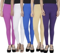Anekaant Legging For Girls(Purple Pack of 5)
