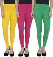 Anekaant Legging For Girls(Yellow Pack of 3)
