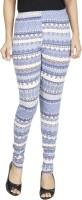 Anekaant Legging(Blue, Multicolor, Striped)