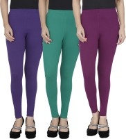 Anekaant Legging For Girls(Purple Pack of 3)