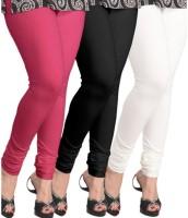 BuyNewTrend Legging(Pink, Black, White, Solid)