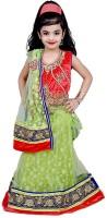 Arshia Fashions Girls Lehenga Choli Ethnic Wear Embroidered Lehenga, Choli and Dupatta Set(Multicolor, Pack of 1)