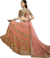 Aasvaa Embroidered Womens Lehenga, Choli and Dupatta Set(Stitched)