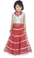 BownBee Girls Lehenga Choli Ethnic Wear Embroidered Lehenga, Choli and Dupatta Set(Multicolor, Pack of 1)