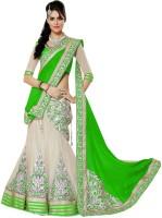 Saree Bazaar Embroidered Women's(Green, Size: Free)