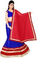 Dancing Girl Striped Womens Lehenga, Choli and Dupatta Set(Stitched)