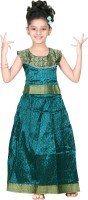 Bhartiya Paridhan Girls Lehenga Choli Ethnic Wear Self Design Lehenga Choli(Green, Pack of 1)