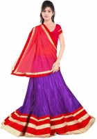 Dancing Girl Embroidered Womens Lehenga, Choli and Dupatta Set(Stitched)