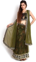 Kasturi-B Swadeshi Karigari Embellished Womens Lehenga, Choli and Dupatta Set(Stitched)